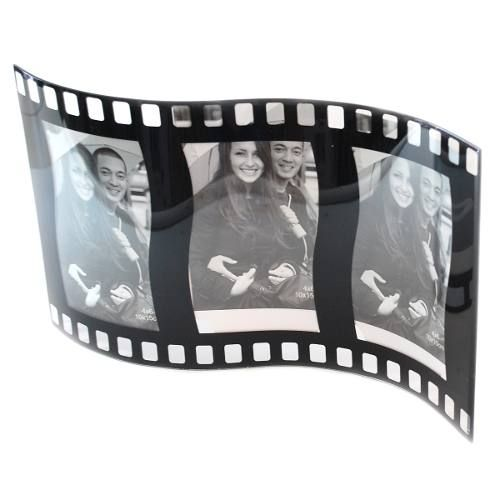Porta Retrato 3 Fotos 10x15 Vidro Filme Ond. Square Pf-505
