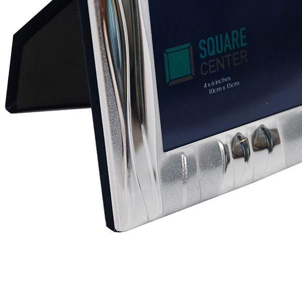 Porta Retrato Alumínio 15x20 Prata Square Squ-5A-6