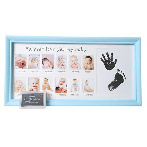 Porta Retrato Bebê mês-aniversário Carimbo Square PF-1109AZ