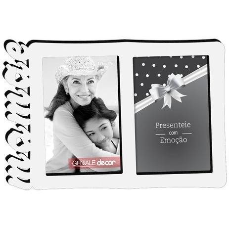 Porta-Retrato Duplo 10x15 Mamãe Branco Geniale 05