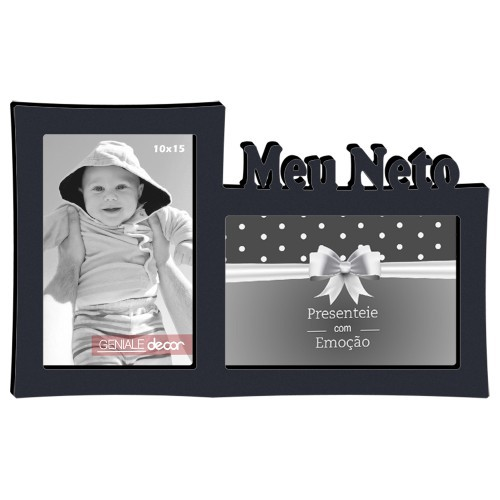 Porta Retrato Duplo 10x15 Meu Neto 14 Geniale