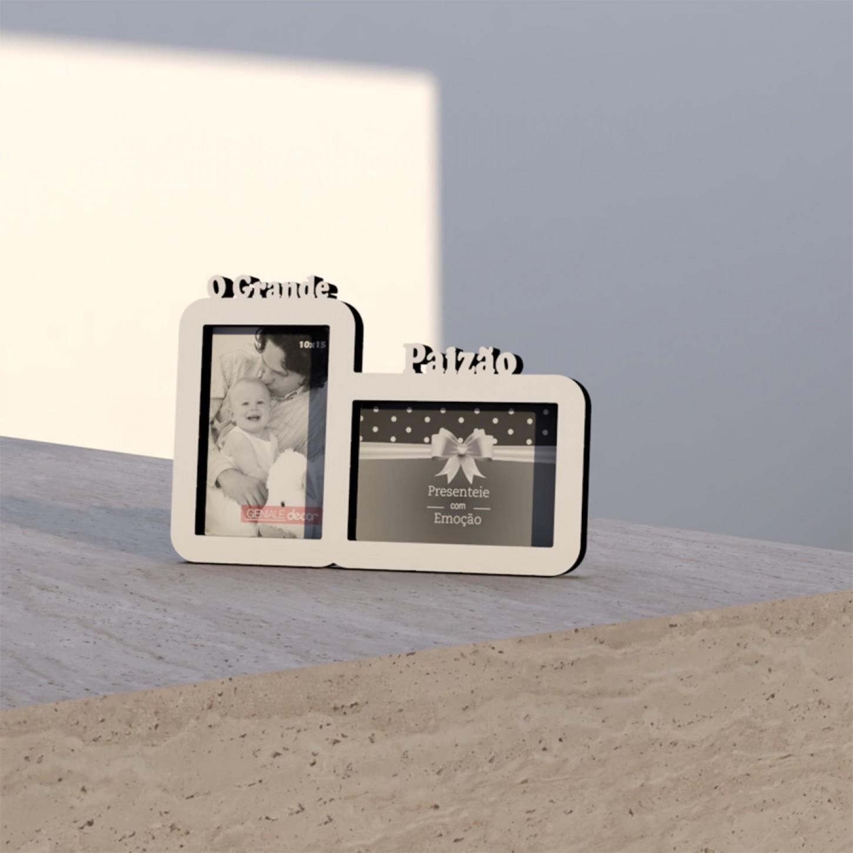 Porta Retrato Duplo 10x15 O Grande Paizão Geniale 01