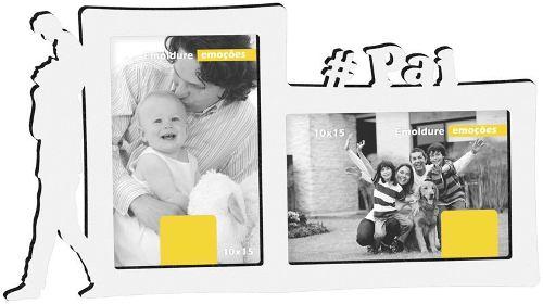 Porta Retrato Duplo 10x15 #Pai Geniale 07