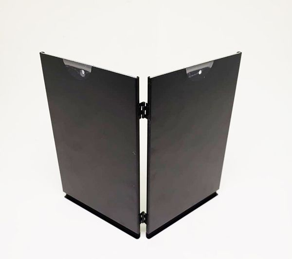 Porta Retrato Duplo 15x20 Square Preto PF-1205-6 PO