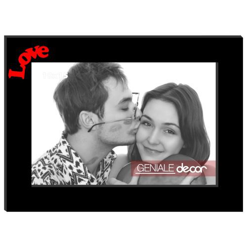 Porta Retrato Horizontal Preto 20x25 Love Gen 16
