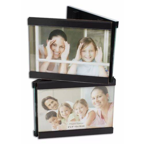 Porta Retrato para 4 Fotos 10x15 Square Preto Pf-408