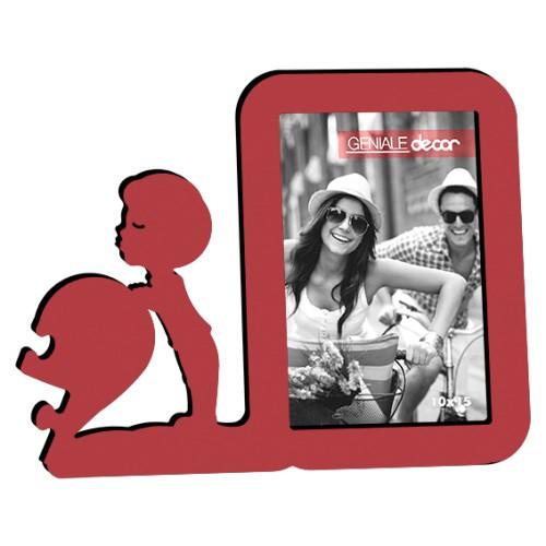 Porta Retrato Vertical Vermelho 10x15 Menino 19