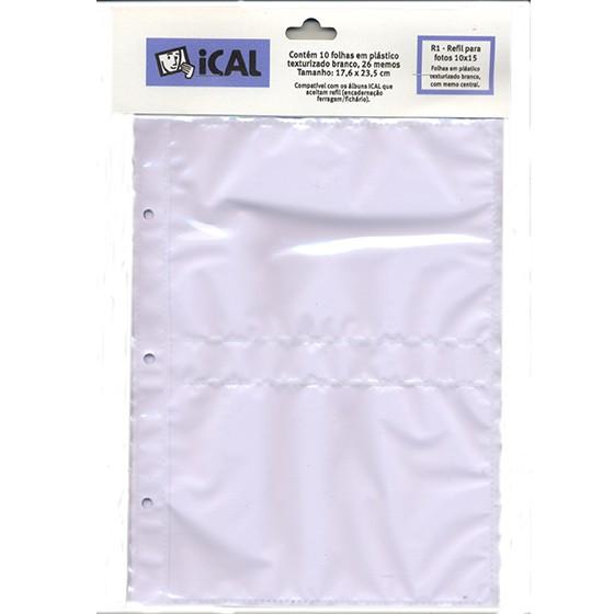 Refil De Folha Branca 10 FL 10x15 - R1 - ICAL