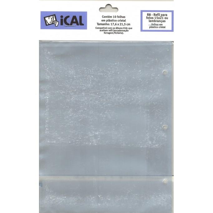 Refil Folha Cristal 10 FL 15x21 - R8