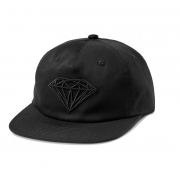 Boné Diamond Brilliant Descontruido Aba Reta Preto