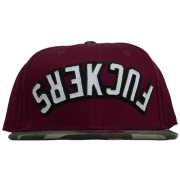 Boné Official Aba Reta Snapback Fuckers Bordo