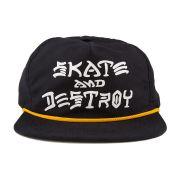 Boné Thrasher Aba Reta Skate And Destroy Snapback Preto