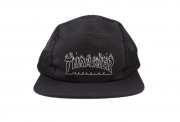 Boné Thrasher Five Panel Flame Outline Preto