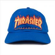 Boné Thrasher Flame Aba Curva Azul