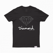 Camiseta Diamond Sign Preta