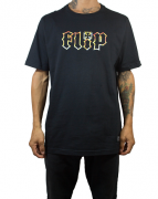 Camiseta Flip Logo HKD Flame Preta