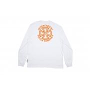 Camiseta Independent Manga Longa Vertical Branco
