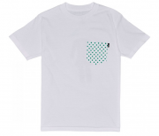 Camiseta Lakai Collab Girl Dotted Pocket Branca