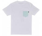 Camiseta Lakai Collab Girl Dotted Pocket Branca