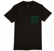 Camiseta Lakai Collab Girl Dotted Pocket Preta