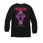Camiseta Primitive Manga Longa Goku Black Rose Preta