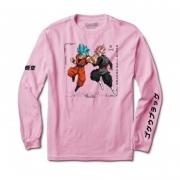 Camiseta Primitive Manga Longa Goku Versus Rosa