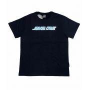 Camiseta Santa Cruz Juvenil Classic Strip Preto