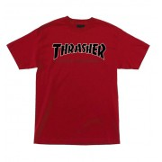 Camiseta Thrasher Collab Independent Time To Grind Vermelha