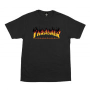 Camiseta Thrasher Flame Barbecue Preta