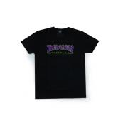 Camiseta Thrasher Outlined Preto Logo Roxo