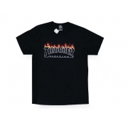 Camiseta Thrasher Skate Mag Scorched Preta
