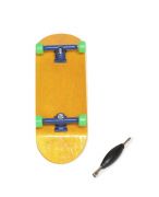 Fingerboard Skate de Dedo 33.5mm Amarelo/Azul/Verde