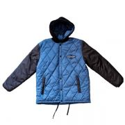 Jaqueta Independent Hooded Puffy Azul