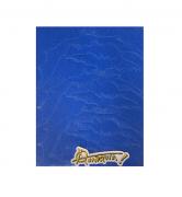Lixa Anarquia Morcegos Azul 9 X 33