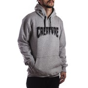 Moletom Canguru Creature Shredded Hood Cinza