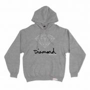 Moletom Diamond com Capuz OG Sign Cinza