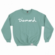 Moletom Diamond sem Capuz OG Script Esmeralda