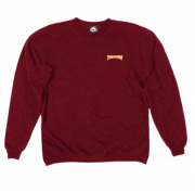 Moletom Sem Capuz Thrasher Logo Mini Bordo