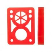 Pads Elevadores Macio dupla furação Reto 1cm Vermelho