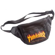 Pochete Thrasher Flame Preta