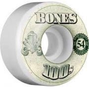 Roda Bones 100's 54mm V4 Branca