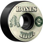 Roda Bones 100's 54mm V4 Preta