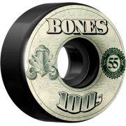 Roda Bones 100's 55mm V4 Preta