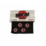 Roda Fingerboard Bangin Swirl Vermelho 65D Swiss