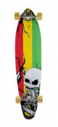 Skate Longboard 40' Completo Caveira
