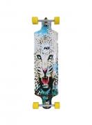 Skate Longboard Drop Down Rebaixado Hondar 9.5 x 40 Tigre Branco