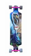 Skate Longboard Drop Down Rebaixado Hondar 9.5 x 40 Tigre Roxo