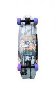 Skate Simulador Surf c/ Roda Hondar Falcon Fish Tail Completo Cush