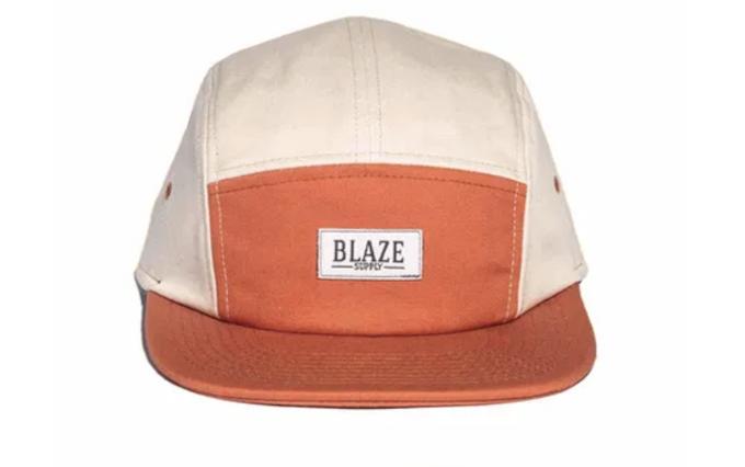 Boné Blaze Supply Five panel Strapback Aba Laranja