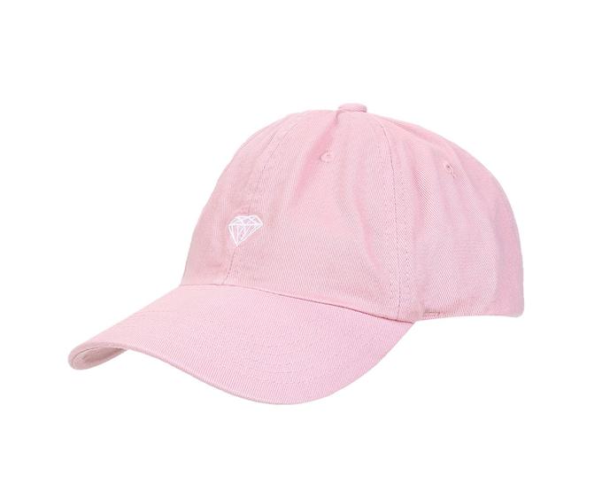 Boné Diamond Brilliant Dad Hat Aba Curva Rosa